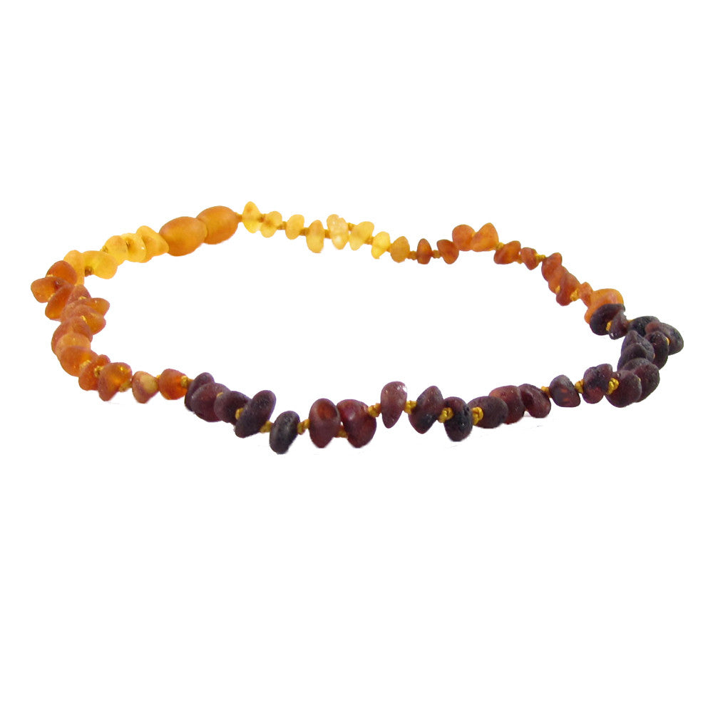 "Amber Monkey Baltic Amber Necklace (12""-13"") - Raw Rainbow"
