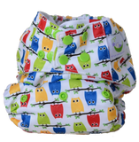 Sweet Pea Bamboo All in One Cloth Diaper - Owls