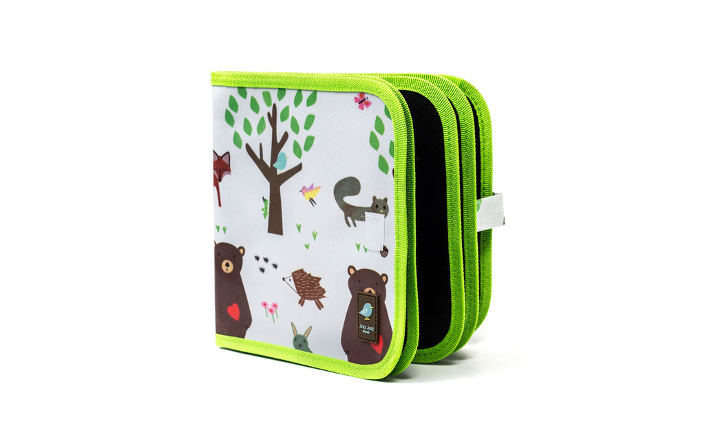Jaq Jaq Bird Doodle It & Go Chalk Book - Forest