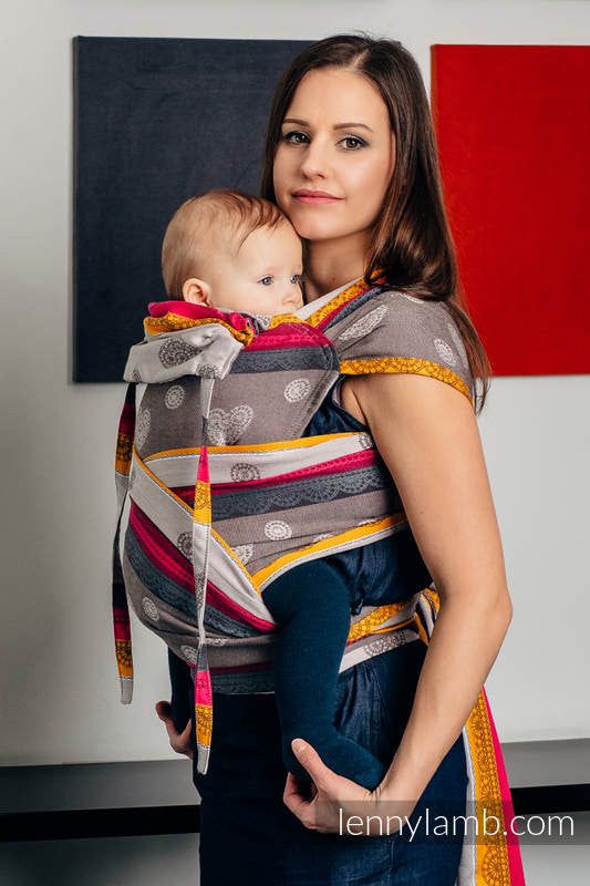 Lenny Lamb Wrap Tai Baby Carrier- Coffee Lace 2.0