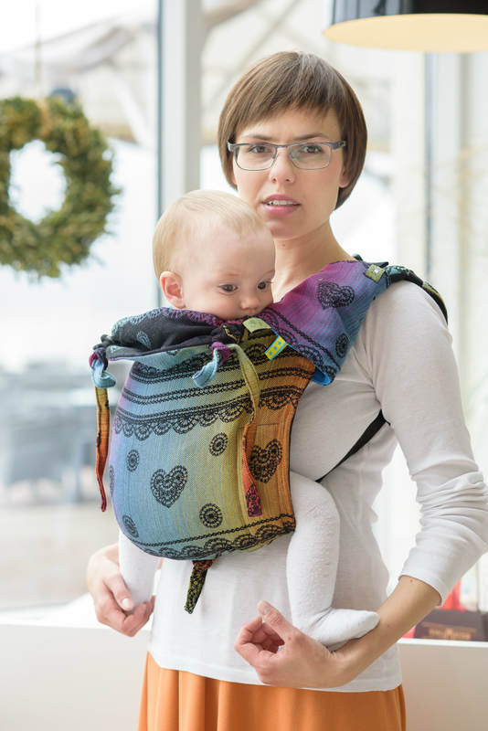 Lenny Lamb Buckle Onbuhimo Toddler Carrier- Rainbow Lace Dark