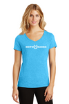 Hope Rides Ladies V-Neck Tee