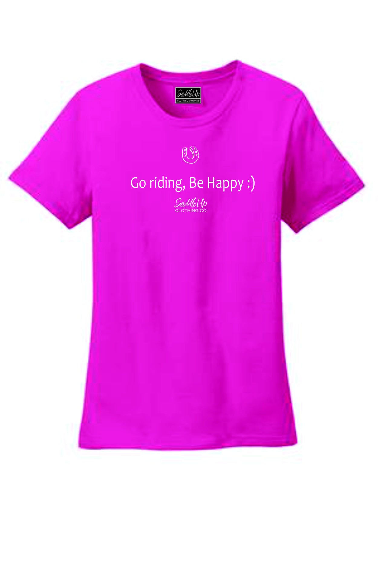 "Saddle Up ""Go riding, Be happy"" Tee"
