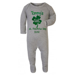 St.Patricks day baby grow