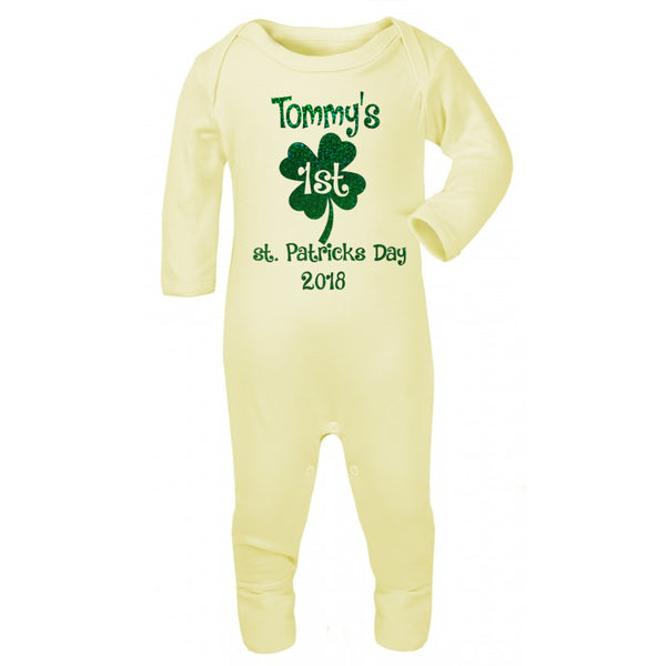 first St.Patricks day baby grow