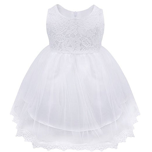 White Lace Christening Dress