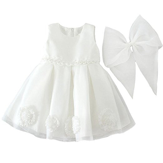 Large Bow Christening Dress