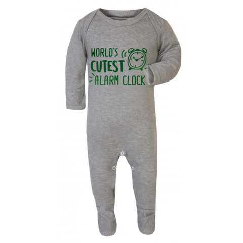 cute alarm clock baby grow