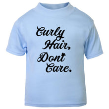 Curly Hair dont care boys shirt