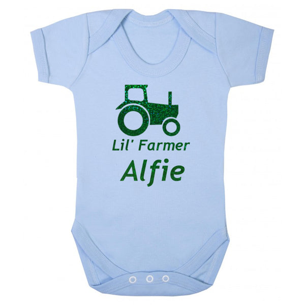 Little Farmer Personalised Baby Grow