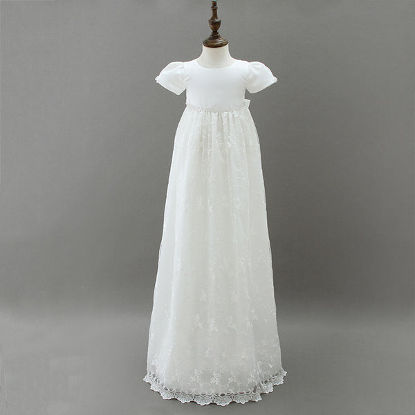 christening gown back