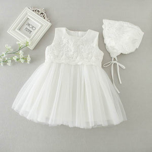 Baptism Dress With Bonnet