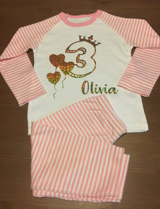Personalised Birthday Pyjamas