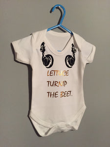 Lettus Turnip The Beet. Baby Vest