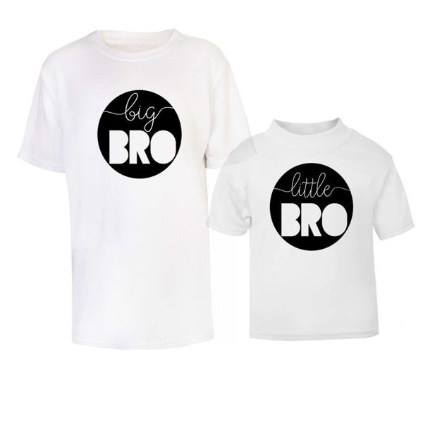 Big And Little Bro Circle T Shirt Set