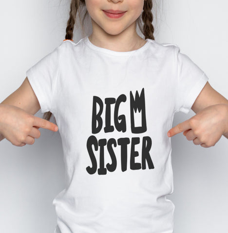 big sister white t shirt