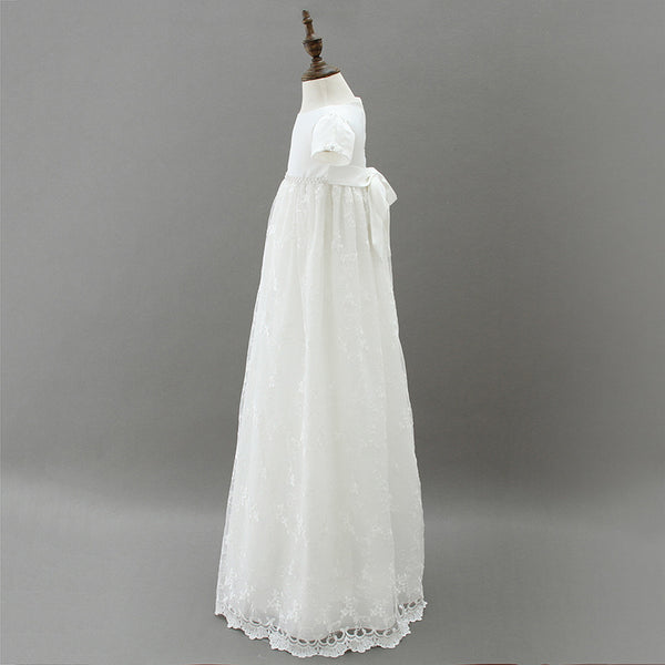 long christening gown side