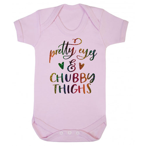 Pretty Eyes & Chubby Thighs Baby Vest