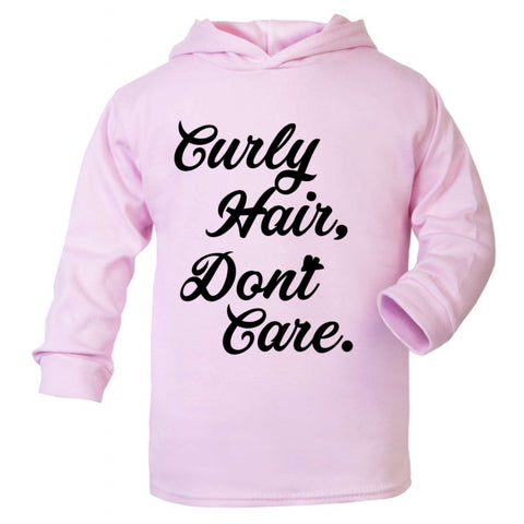 Curly hair, dont care. Summer Hoodie