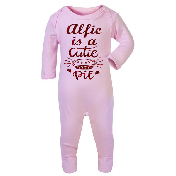 Personalised Cutie Pie Baby Grow