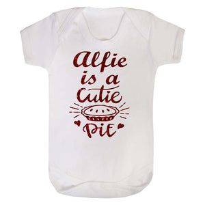 Personalised Cutie Pie Baby Vest