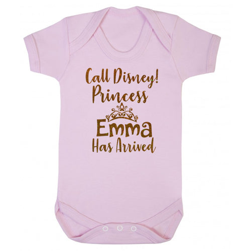 Personalised New Princess Body Suit