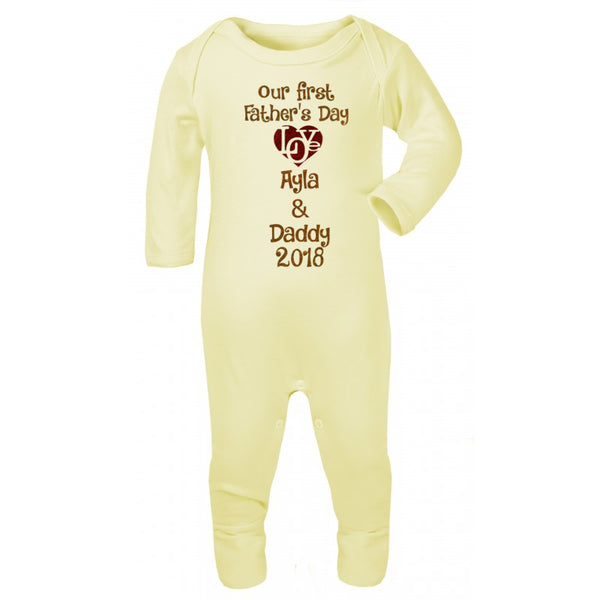 Personalised Fathers Day Baby Romper
