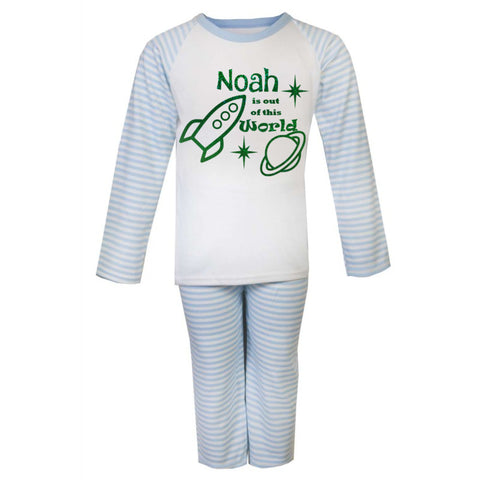 Boys Personalised Space Pyjamas