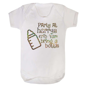 Personalised Crib Party Baby Vest