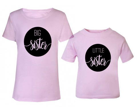 big little sister t shirt set