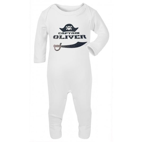 Personalised Pirate Baby Grow