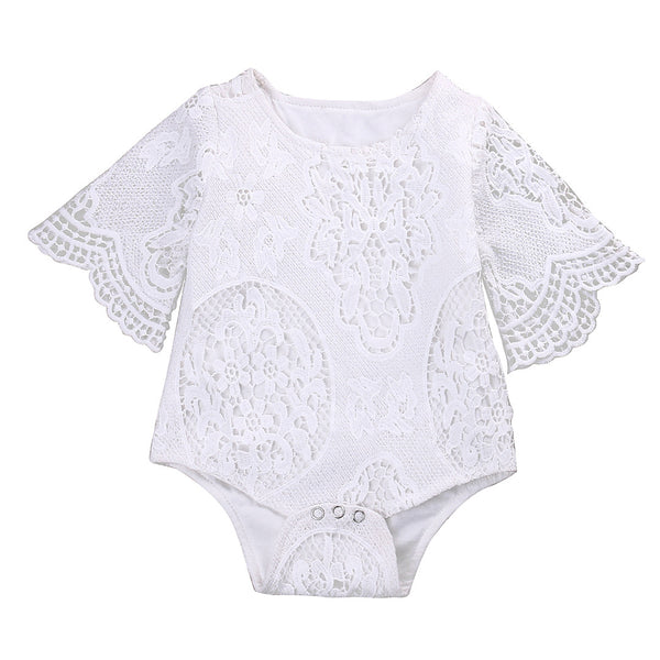 Girls Princess Lace Baby Sunsuit