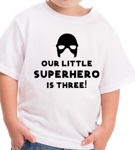 superhero 3 birthday shirt