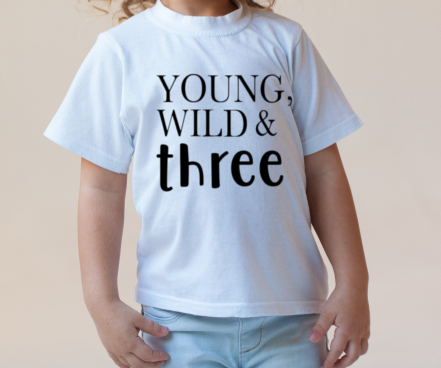 wild and three shirt