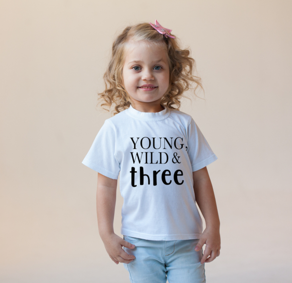 young wild and three t shirt