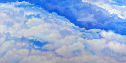 Blue Cloud oil painting by Harold Roth