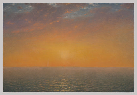 Kensett, Sunset on the Sea, 1872