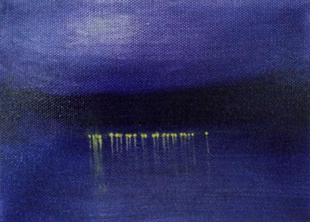 Across the Lake Landscape Painting