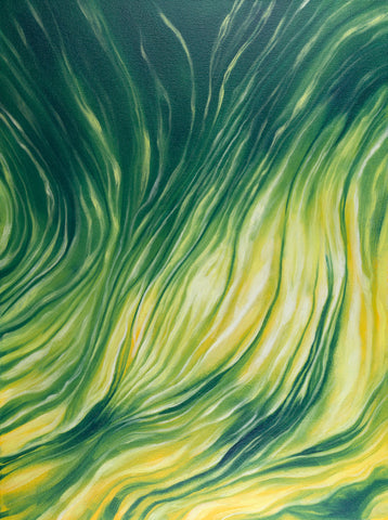 Emerald Vision Abstract Painting