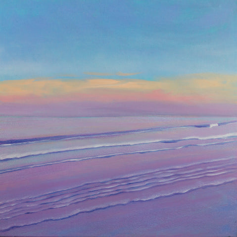 Lavender Sea Landscape Painting - Not for sale right now