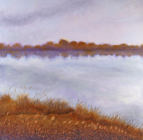 Across the River Landscape Painting