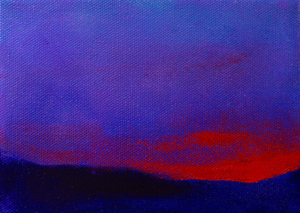 Sunset in the Hills Landscape Painting