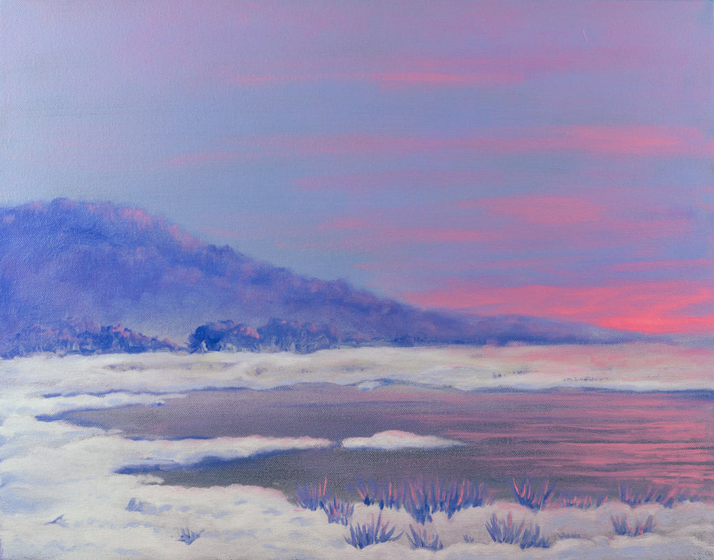 Winter Sunset Landscape Painting - On exhibit
