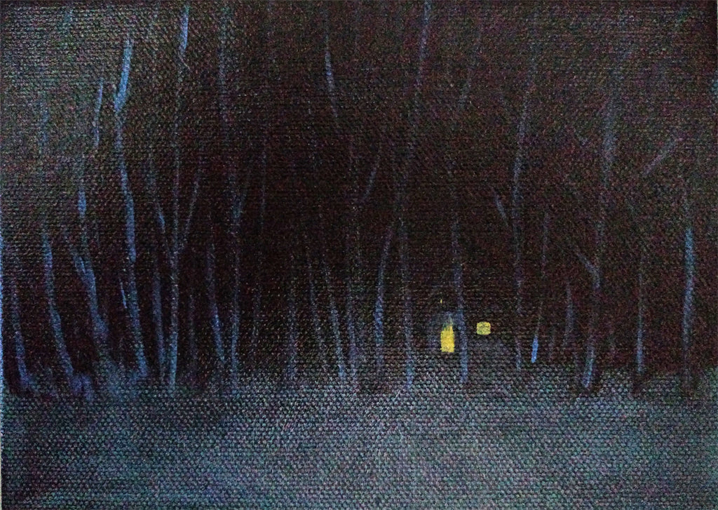 Witch House in the Woods Landscape Painting