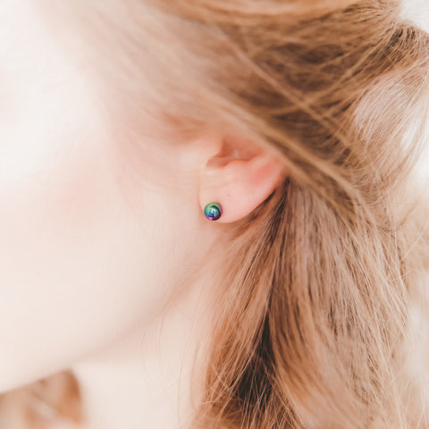 6mm Ball Hypoallergenic Stud Earrings