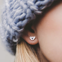 Silver Koala Stud Hypoallergenic Earrings