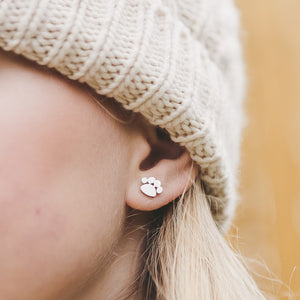 Paw Stud Hypoallergenic Earrings