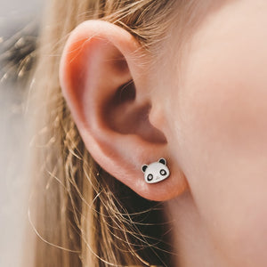 Panda Stud Hypoallergenic Earrings