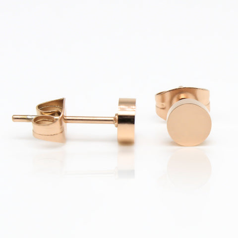 Round Stud Hypoallergenic Earrings