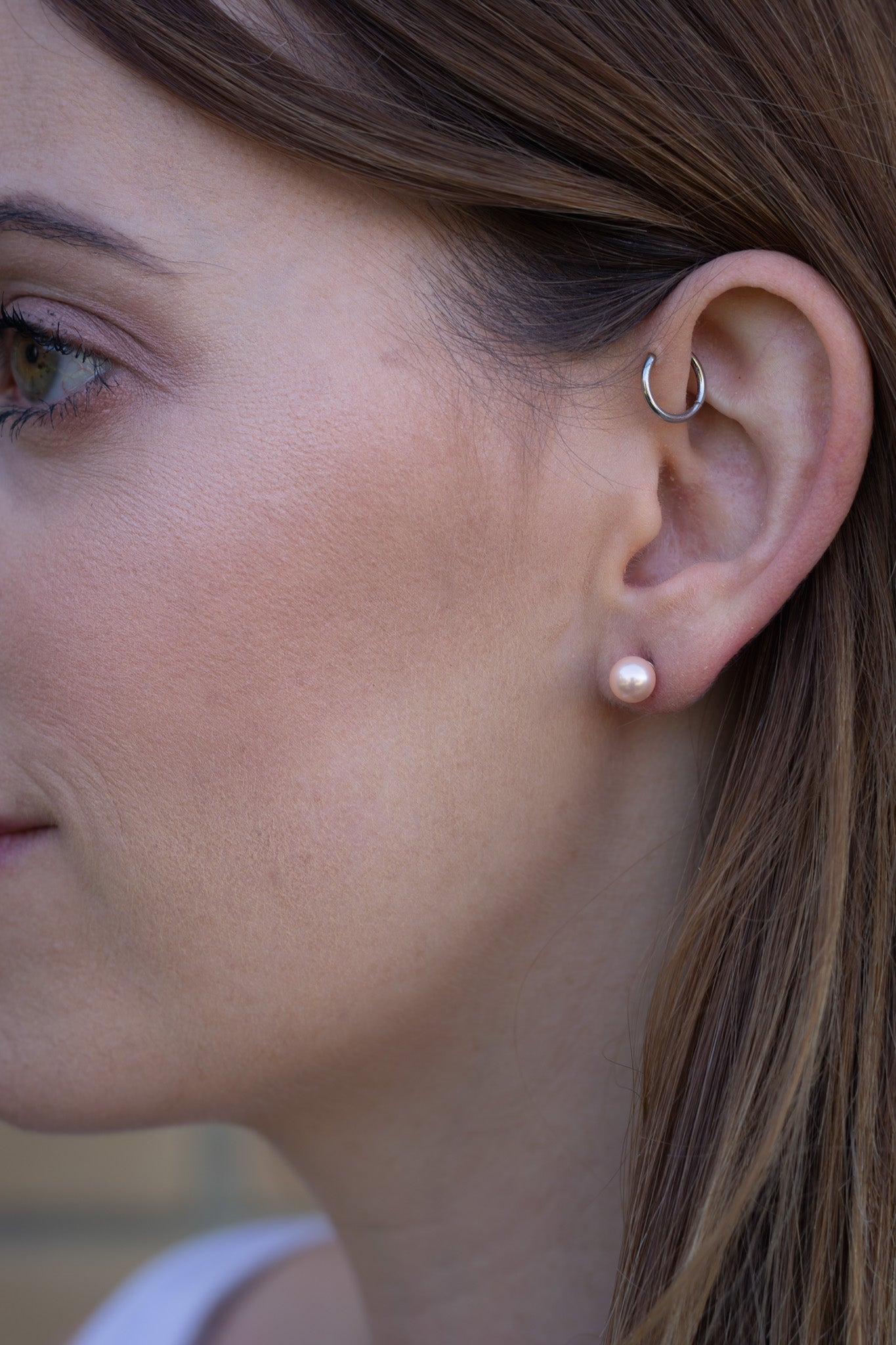 Pearl Stud Hypoallergenic Earrings